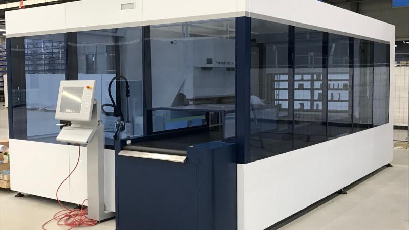 Nova Role – wir installieren aktuell unsere neue Roboter-Biegezelle TruBend Cell 7000.