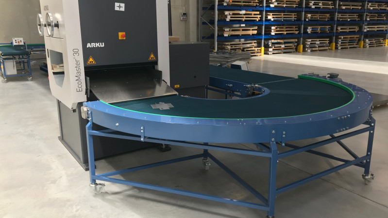 Nova Role - we installed conveyors for deburring and leveling departments