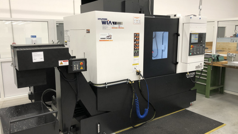 We opened a new CNC machine shop and launched a production with Hyundai F400